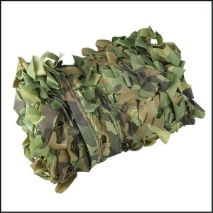 Tents Hiking Sports & Outdoorstents And Shelters 3X Hunting Camouflage Nets Woodland Army Training Camo Netting Car Ers Tent Shade Cam Sun S