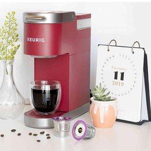 ICafilasSVIP Stainless Steel Reusable K Cup Coffee Filter Accessories Capsule for Keurig K mini Plus,K-Cafe,K-cafe K83,K-Latte 210326