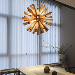 Pendant Lamps Nordic Dandelion Wooden Lights Art Creative Chinese Lamp Tea Room Dining Living Personality