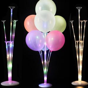 1 / 2Set светодиодный свет воздушный шар стойка столбец свадебный декор воздушный шар на день рождения украшения дети для взрослых событие партии баллоны WJL0055