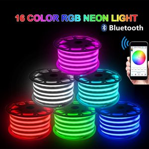 Neon Strip 220V Waterproof 750W 1500W Music Bluetooth Control Flexible SMD LED Sign Light 110V Strips
