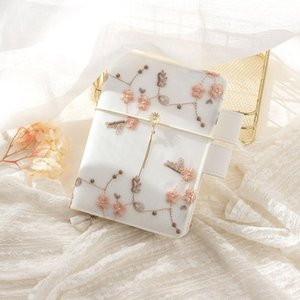 Petal Pattern Embroidery Notebook Ins Style Bandage Tassel Decoration A6 Grid Blank Line Pages Diary Girl Exquisite Notepad Gift Notepads
