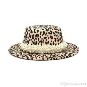 Fuodrao Women Leopard Stampa Stampa Fedora Cappelli Britannica Inverno Blend Blend Piano Top Bowler Hat Wide Brim Jazz Cap Party Cowboy Hat P42