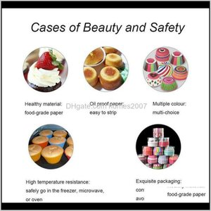 Bakeware Kitchen, Dining Bar Home & Garden100Pcs Paper Cups Cupcake Liner Baking Muffin Box Cup Case Tray Cake Decorating Tools Birthday Part
