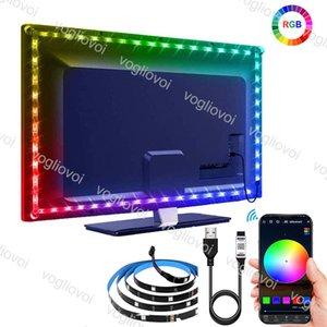 Bluetooth USB 5V LED Strip 5050 RGB TV Background Lighting DIY Flexible Light 1M 2M 3M 4M 5M With Phone APP Control DHL