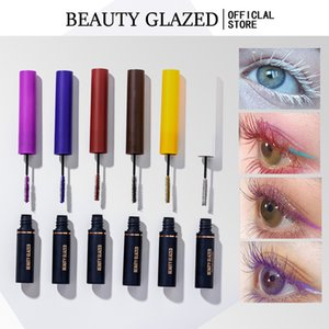 Beauty Glazed Slim Colored Mascara Small Brush Head Curling Thick Long-lasting Magic Sexy Eyes Makeup
