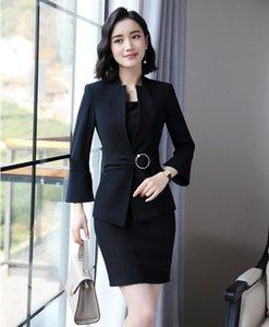 Frauenanzüge Blazer 2021 Mode Damen Kleid für Frauen Businessjacke und Blazer Sets Arbeitskleidung Bürouniformen Stile