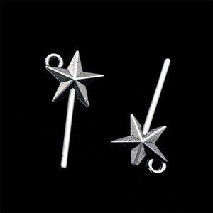 171pcs Charms Baguette magique 25 * 13mm Faisante antiquaire Fit, Argent Tibétain Vintage, bijoux à la main de bricolage 394 T2