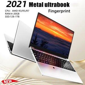 2021 new 15.6-inch metal Laptop AMD R3   R5   R7 lightweight portable business office design computer 20GB ram 256G 1TB SSD