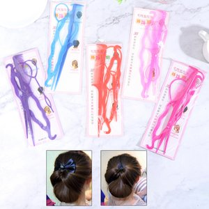 4PCS Set Women Girls Hair Braid Accessories Ponytail Loop Tail Clip Fashion Salon Hair Styling Tool