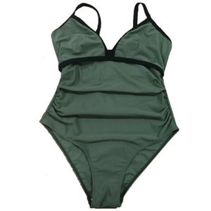 new pregnant women's large one-piece swimsuit, covering the showing thin, loose and belly supporting Bikini Swimsuitljhil
