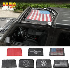 BAWA Top Sunshade Jeep JL Front Door SunShade Roof Mesh UV Proof Protection Net Accessories for Wrangler jl