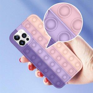 2021 Estuches para teléfonos celulares de jardín Pop TI Fidget DecomPresion Silicone para teléfono 12 11 Pro XS MAX XR 7 8 PLUS HUAWEI MATE30 40 P40