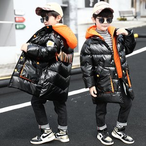 Kids Winter Long Style Jacket Coat For Boys Children Hooded Outerwear Fashion Warm Clothes Age 4 5 6 7 8 9 10 11 12 13 Years Old