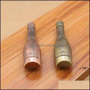 Handles Pulls Building Supplies Home & Gardenwvintage Alloy Wine Bottle Shape Cupboard Knob Der Pull Handle Kitchen Door Wardrobe Hardware K