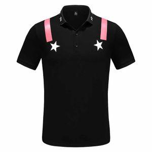 2021 novo ouro marca polo camisa preta primavera luxo itália mens t-shirt designers polo camisas de alta rua bordado impressão roupas shir