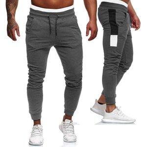 NOUVEAU Mode Hommes Joggers Pantalon Taille élastique Pantalon de survêtement en coton lâche mâle pantalon long pantalon asiatique taille asiatique