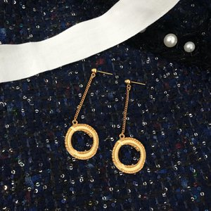 Fashion gold earrings aretes orecchini for women party wedding lovers gift jewelry engagement with box