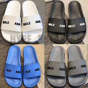 2021 Sliders Mens Womens Summer Sandals Paris Beach Slippers Ladies Flip Flops Loafers Scuffs Black White Blue Slides Shoes WITH BOX GIFTS