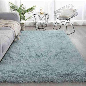 Pure Color Plush For Modern Home Living Room Sofa Mat Balcony Cushion Silky Soft Fluffy Rug Children Bedroom Large Carpet