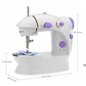 Mini Sewing Machine Electric Household DIY Handwork Sewings Machines Dual Speed With Power Supply Small Home Supplies DHE8697