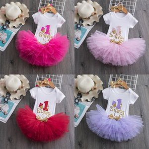 My Little Baby Girl First 1st Birthday Party Dress Cute Pink Tutu Cake Outfits Infant Dresses Baby Girls Baptism Clothes 0-12M 83 Y2