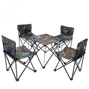 Установить наружный портативный складной стол и стул сочетание барбекю кемпинг самостоятельный вождение тур пикник мебель барбекю рыболовные аксессуары