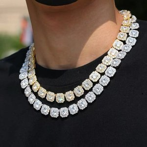 Most Popular Iced Out Watch Gold Cuban Link Chain Miami Hip Hop Necklace