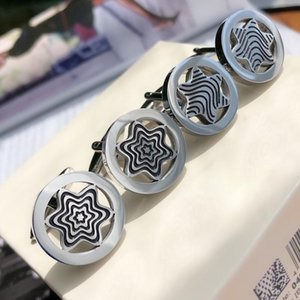 PPMT Heritage Range cufflinks Pure steel quality and Flash material,Pentagram spider web serie hollow element with Box set