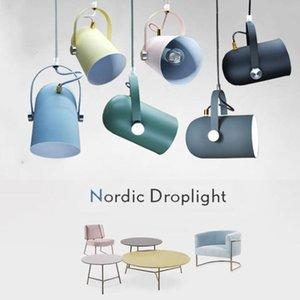 Pendant Lamps Nordic Minimalist Droplight Angle Adjustable E27 Modern Lights Home Decor Lighting Lamp And Bar Showcase Spot Light
