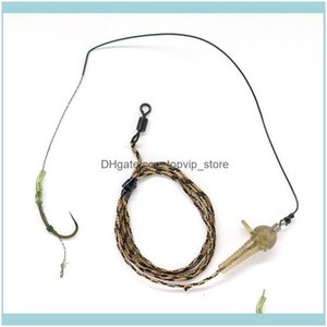 Sports & Outdoorssize(2# 6# 8# ) Ready Made Carp Fishing Leader Rig Line Combi Group Hooks Tackle Drop Delivery 2021 Trgb6