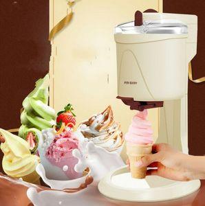 1000 ml Mini Dondurma Araçları Meyve Yumuşak Hizmet Makinesi Ev Elektrikli DIY Mutfak Makinesi için Tam Otomatik Çocuk