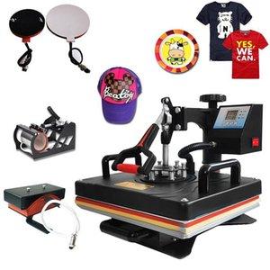 Muntifuncional Sublimação Heat Press Machine T Shirt Impressora de transferência para caneca Cap Futebol garrafa de garrafa sapato de café elétrico