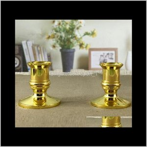 Candlestick Plastic Gold Plated Candle Base Holder Pillar Candlestick Stand For Electronic Candles Tapers Christmas Party Eea745 Qt9W1 5Tq4O