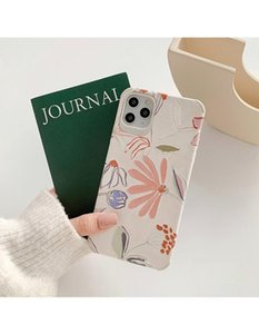 Cute Flower 3D Relief Matte Leather Phone Cases For iphone 12 11 Pro XR X XS Max 7 8Plus SE Candy Color Floral Back Cover