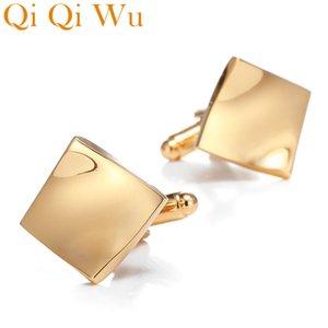 New Arrive Gold Mens Shirt Cufflinks Metal Designer Cuff links Buttons for Best Man Wedding Gifts Cufflink Business Jewelry