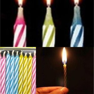 10 Pcs set Magic Relighting Candles Funny Tricky Toy Birthday Eternal Blowing Candles Party Joke Birthday Cake 173 V2