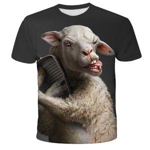 New Summer T shirt Men Streetwear Funny sheep Short Sleeve Tees Tops Animal Male Clothes Casual 3D Print Tshirt