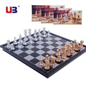 UB AIA gold silver folding magnetic chess plastic desktop Yile intelligence leisure toy student gift