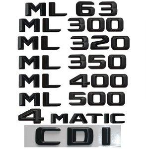 Black Emblem For Mercedes Benz W164 W166 ML55 ML63 AMG ML250 ML280 ML300 ML320 ML350 ML400 ML420 ML500 ML550 4MATIC CDI Emblems