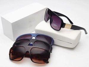2298 Erkekler Klasik Tasarım Güneş Gözlüğü Moda Oval Çerçeve Kaplama UV400 Lens Karbon Fiber Bacaklar Yaz Stil Gözlük Kutusu Ile