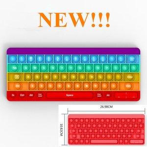 Удивительный!!! FIDGET TOYS RESSIVE Стресс Party Gifts Клавиатура Форма с буквами Rainbow Push It Bubble Antistress Sensory Toy Office Squeeze Доска на складе