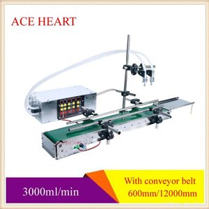 Food Processors Automatic Conveyor Belt Assembly Line Double-Head Liquid Filling Machine Intelligent Induction Quantitative High-Precision