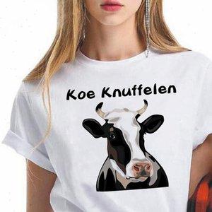 Koe Womens T Shirt Knuffelen Printed Shirts Women Summer Relieve Pressure Netherlands Pop Hipster Clothes Oversize Streetwear Vogue