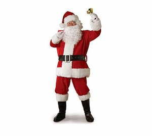 2020 christmas Fashion Design Santa Claus Mascot Costume Cartoon Cosplay Dress Customize Carnival Costume Christmas For Adult