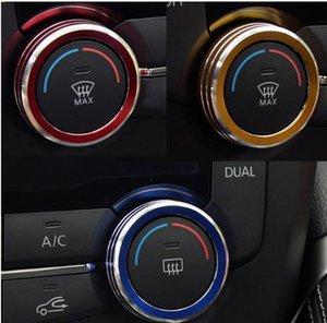 2pcs 자동차 변환 된 오디오 손잡이 에어컨 2021 기타 인테리어 액세서리에 대 한 에어컨 장식 원 스티커 트림