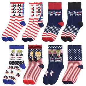 2024 Trump Calcetines Presidente Maga Trump Carta Medias Rayas Estrellas de Rayas Bandera de Estados Unidos Calcetines deportivos Maga Sock Party Favor cyz2992