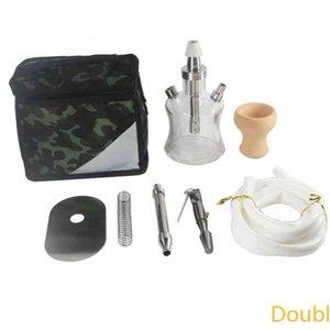 New glass hookah set household KTV clear bar hookahs stainless steel handbag