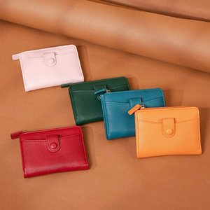 Women's Wallets PU Leather Hasp Cash Credit Card Holder Bag Multifunctional Zip Coin Purse High Capacity Short Wallet