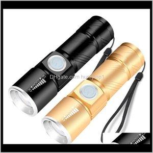 USB-Ladegerät Taschenlampe FORCHL Aluminiumlegierung wasserdicht CREE XPE Q5 Fackel Taktische LED Zoomable Outdoor Taschenlampe Tragbare Fackeln I GYIIN